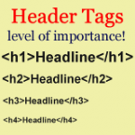 HTML Header Tags for a Hierarchical Structure