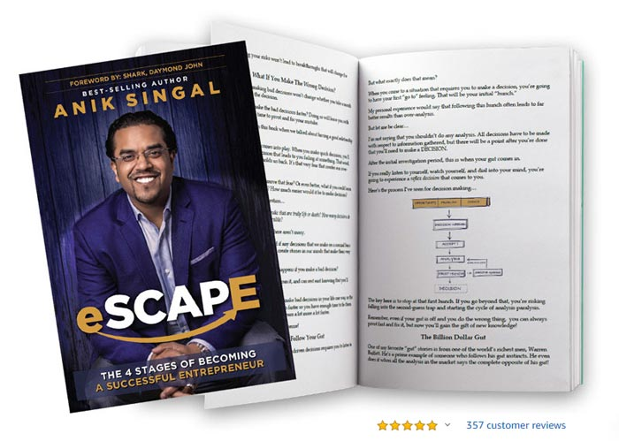 eSCAPE 4 Stages of Becoming a Successful Entrepreneur Book Available at Amazon